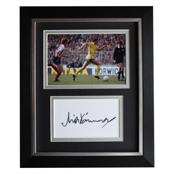 Mick Channon Signed 10x8 Framed Autograph Photo Display Norwich City AFTAL COA