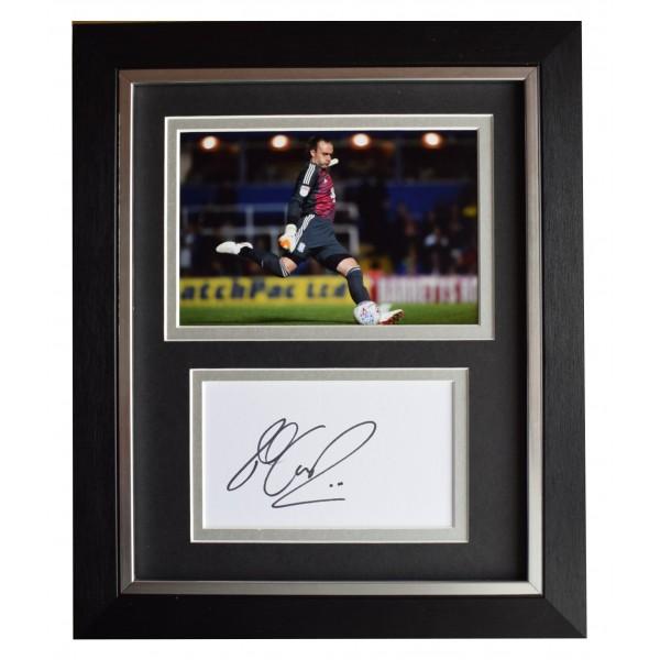 Lee Camp Signed 10x8 Framed Autograph Photo Display Birmingham City AFTAL COA