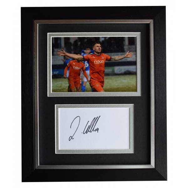 James Collins Signed 10x8 Framed Autograph Photo Display Luton Town AFTAL COA