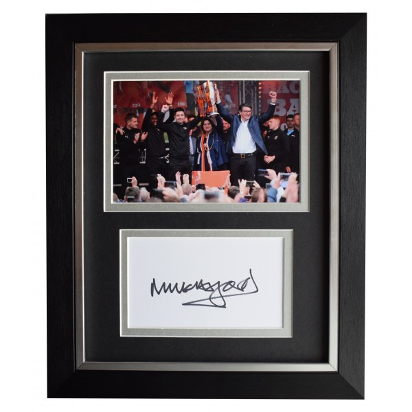 Mick Harford Signed 10x8 Framed Autograph Photo Display Luton Town AFTAL COA