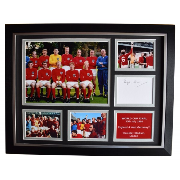 Roger Hunt Signed Autograph 16x12 framed photo display England World Cup 1966 Perfect Gift Memorabilia