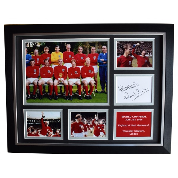 Ray Wilson Signed Autograph 16x12 framed photo display England World Cup 1966 Perfect Gift Memorabilia