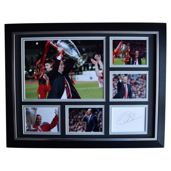 Rafa Benitez Signed Autograph 16x12 framed photo display Liverpool Istanbul 2005   Perfect Gift Memorabilia