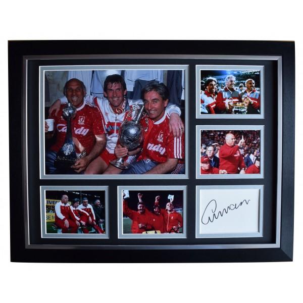 Ronnie Moran Signed Autograph 16x12 framed photo display Liverpool Football COA Perfect Gift Memorabilia