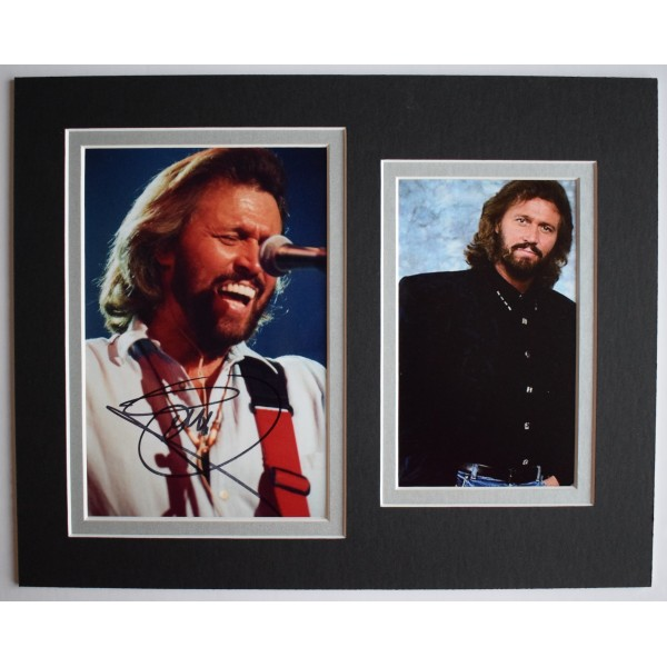 Barry Gibb Signed Autograph 10x8 photo display BeeGees Music AFTAL COA Perfect Gift Memorabilia