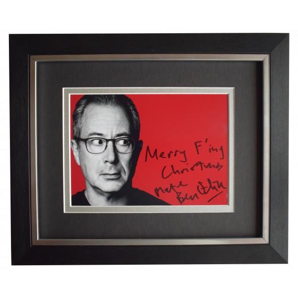 Ben Elton Signed 10x8 Framed Autograph Photo Display Saturday Live TV AFTAL COA