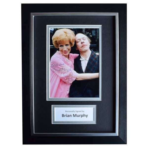 Brian Murphy Signed A4 Framed Autograph Photo Display George & Mildred AFTAL COA Perfect Gift Memorabilia