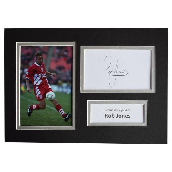 Rob Jones Signed Autograph A4 photo display Liverpool Football AFTAL COA  Perfect Gift Memorabilia