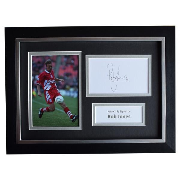 Rob Jones Signed A4 Framed Autograph Photo Display Liverpool AFTAL COA Perfect Gift Memorabilia