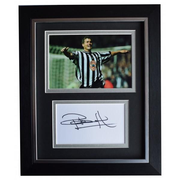 Rob Lee Signed 10x8 Framed Autograph Photo Display Newcastle Utd AFTAL COA Perfect Gift Memorabilia