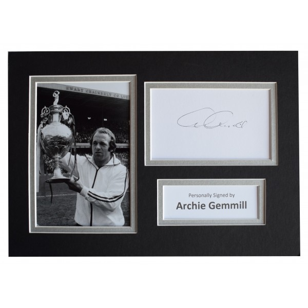 Archie Gemmill Signed Autograph A4 photo display Derby County AFTAL COA  Perfect Gift Memorabilia