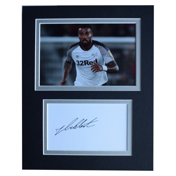 Tom Huddlestone Signed Autograph 10x8 photo display Derby County AFTAL COA Perfect Gift Memorabilia