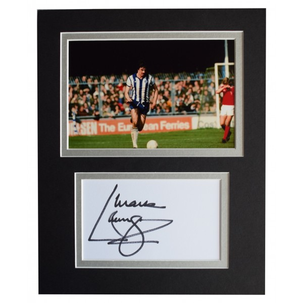 Mark Lawrenson Signed Autograph 10x8 photo display Brighton AFTAL COA Perfect Gift Memorabilia