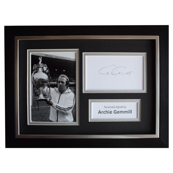 Archie Gemmill Signed A4 Framed Autograph Photo Display Derby County AFTAL COA Perfect Gift Memorabilia