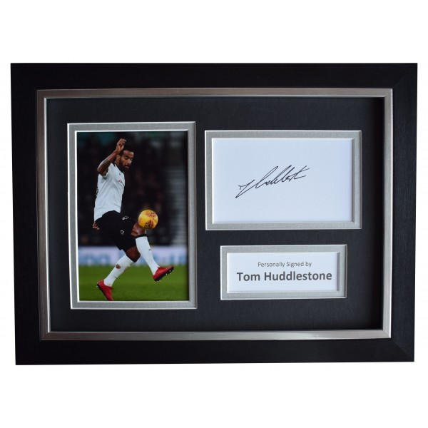 Tom Huddlestone Signed A4 Framed Autograph Photo Display Derby County AFTAL COA Perfect Gift Memorabilia