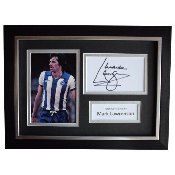 Mark Lawrenson Signed A4 Framed Autograph Photo Display Brighton AFTAL COA  Perfect Gift Memorabilia