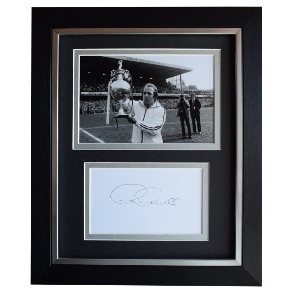 Archie Gemmill Signed 10x8 Framed Autograph Photo Display Derby County AFTAL COA Perfect Gift Memorabilia