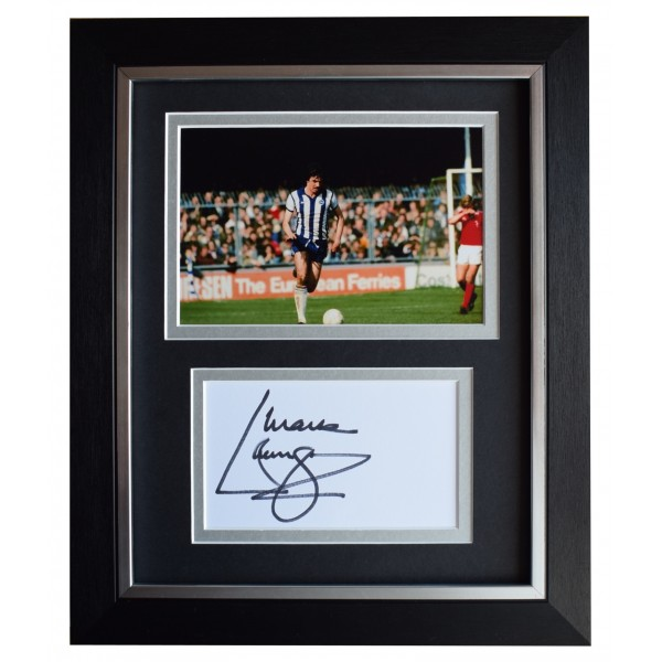 Mark Lawrenson Signed 10x8 Framed Autograph Photo Display Brighton AFTAL COA  Perfect Gift Memorabilia