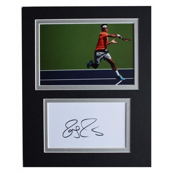 Roger Federer Signed Autograph 10x8 photo display Tennis Sport AFTAL COA  Perfect Gift Memorabilia
