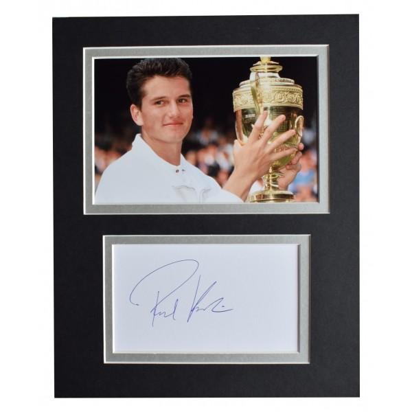 Richard Krajicek Signed Autograph 10x8 photo display Tennis Sport AFTAL COA Perfect Gift Memorabilia