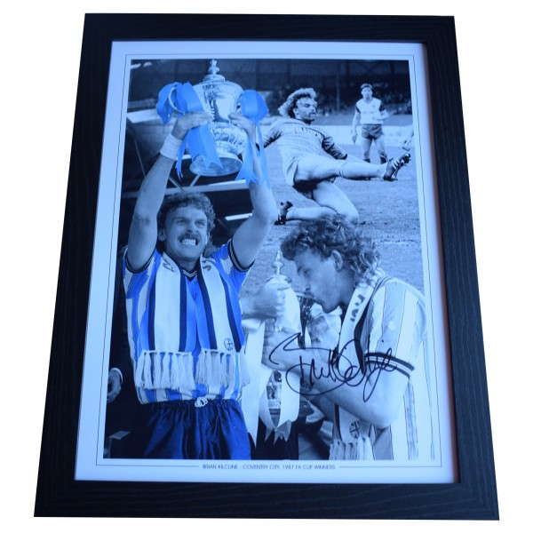 Brian Kilcline Signed Autograph 16x12 framed photo display Coventry City COA Perfect Gift Memorabilia