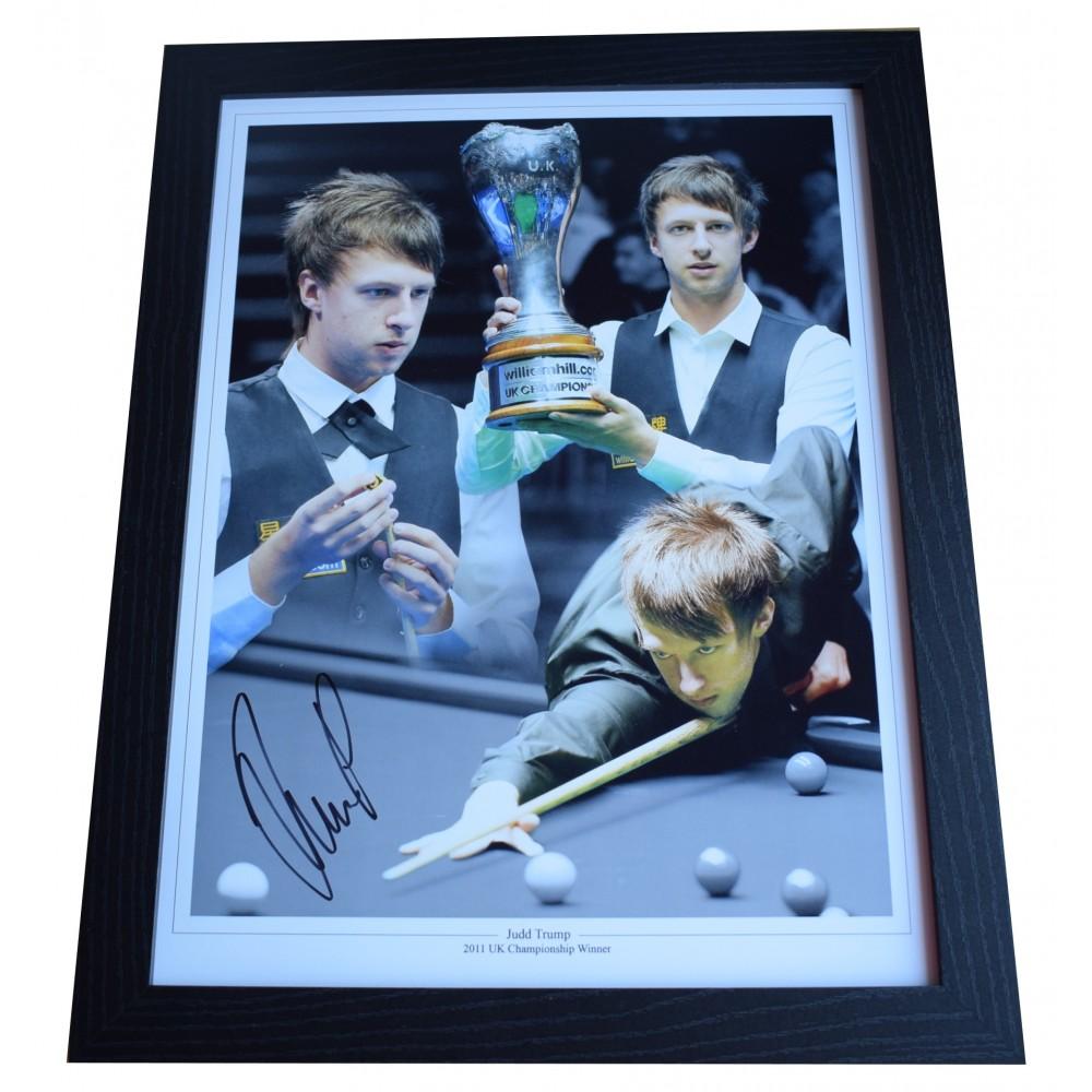 COA Judd Trump Signed 16x12 Photo Display Snooker Autograph Memorabilia