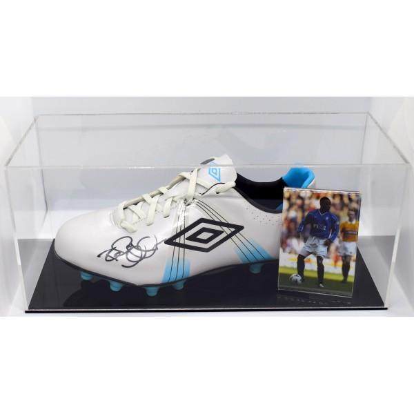 Rod Wallace Signed Autograph Football Boot Display Case Rangers AFTAL COA Perfect Gift Memorabilia