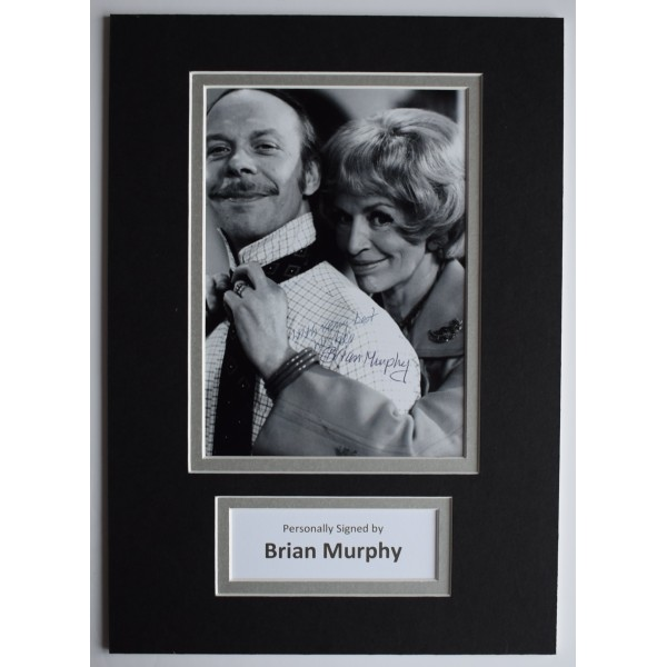 Brian Murphy Signed Autograph A4 photo display George & Mildred TV AFTAL COA Perfect Gift Memorabilia