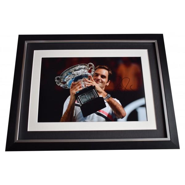 Roger Federer Signed Autograph 16x12 framed photo display Tennis AFTAL COA Perfect Gift Memorabilia