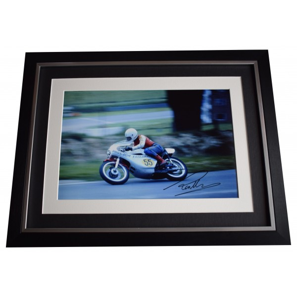 Ron Haslam Signed Autograph 16x12 framed photo display Superbikes AFTAL COA Perfect Gift Memorabilia