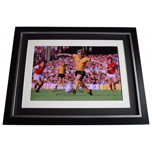 Andy Gray Signed Autograph 16x12 framed photo display Wolves Football AFTAL COA Perfect Gift Memorabilia