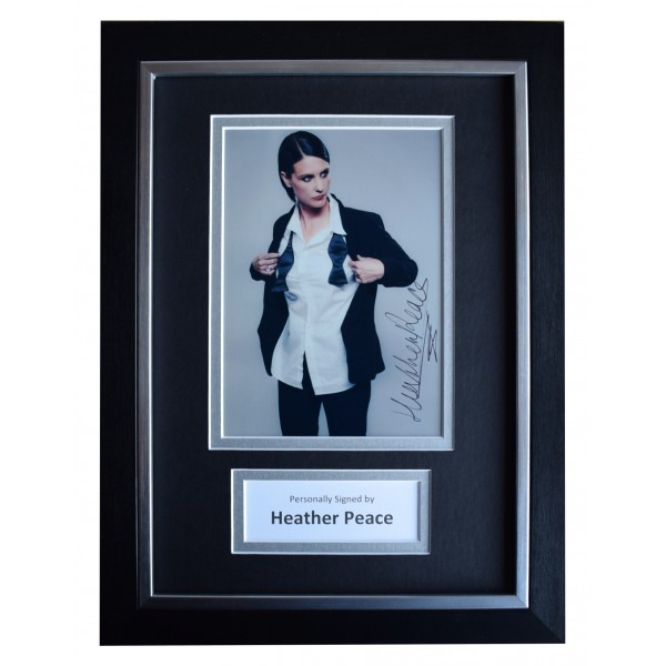 Heather Peace Signed A4 Framed Autograph Photo Mount Display TV Music AFTAL COA Perfect Gift Memorabilia