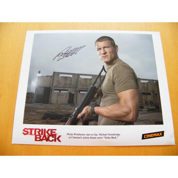 PHILIP WINCHESTER GENUINE HAND SIGNED AUTOGRAPH OFFICIAL STRIKE BACK PHOTO & COA  CLEARANCE SALE