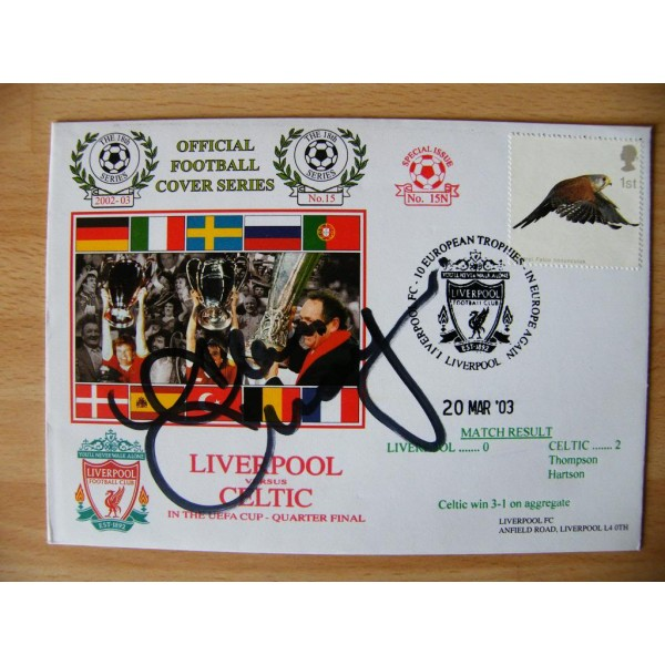 ALAN THOMPSON SIGNED AUTOGRAPH FIRST DAY COVER FDC CELTIC UEFA CUP QUARTER FINAL PERFECT GIFT
