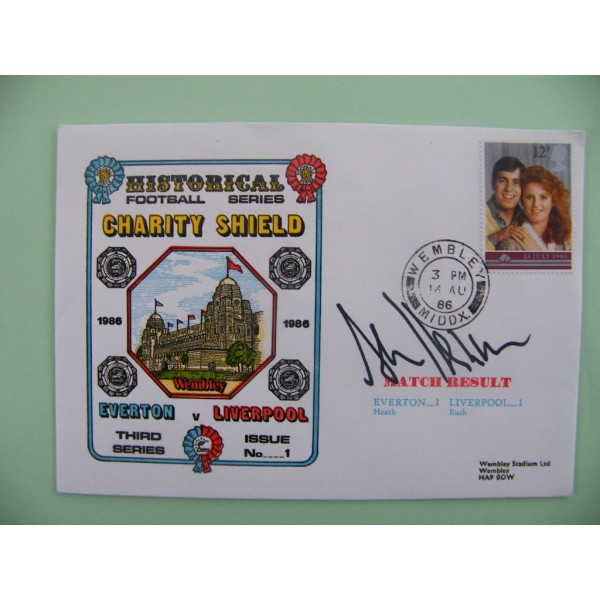 ALAN HANSEN SIGNED AUTOGRAPH FIRST DAY COVER FDC LIVERPOOL CHARITY SHIELD 1986     PERFECT GIFT