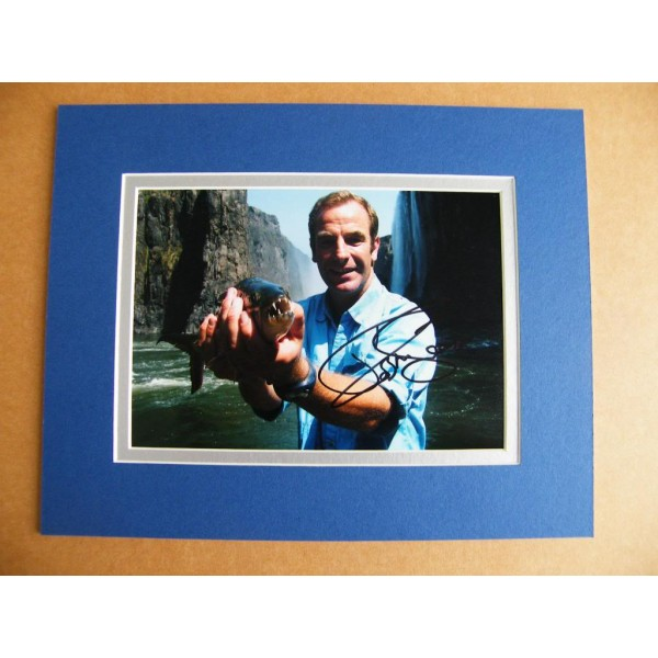 ROBSON GREEN GENUINE HAND SIGNED AUTOGRAPH 10X8 PHOTO MOUNT EXTREME FISHING COA
