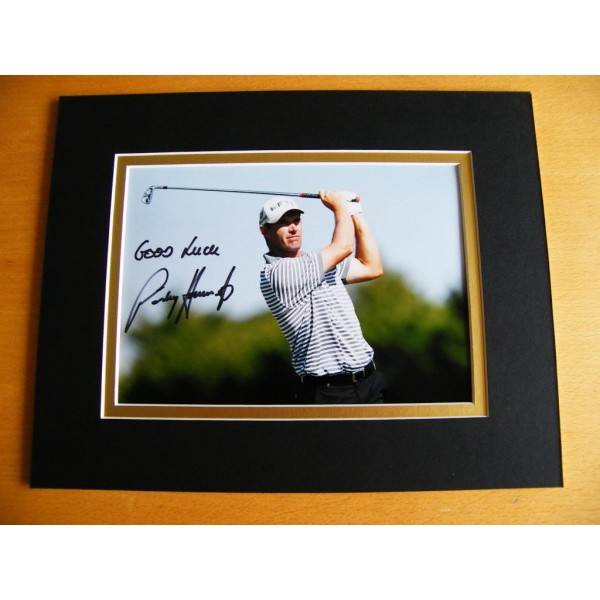 PADRAIG HARRINGTON GENUINE HAND SIGNED AUTOGRAPH 10X8 PHOTO MOUNT GOLF & COA AFTAL Memorabilia
