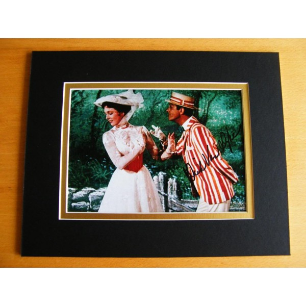 DICK VAN DYKE GENUINE HAND SIGNED AUTOGRAPH 10X8 PHOTO MOUNT MARY POPPINS & COA AFTAL FILM Memorabilia