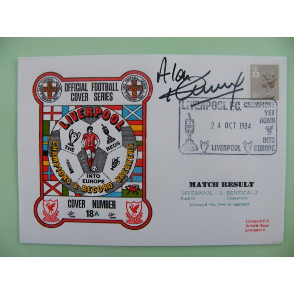 ALAN KENNEDY SIGNED AUTOGRAPH FIRST DAY COVER FDC LIVERPOOL V BENFICA 84/85 COA       PERFECT GIFT