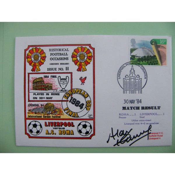 ALAN KENNEDY SIGNED AUTOGRAPH FIRST DAY COVER FDC LIVERPOOL EUROPEAN CUP FINAL     PERFECT GIFT
