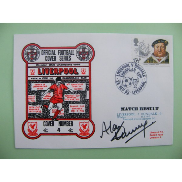 ALAN KENNEDY SIGNED AUTOGRAPH FIRST DAY COVER FDC LIVERPOOL V DUNDALK 82/83 COA     PERFECT GIFT