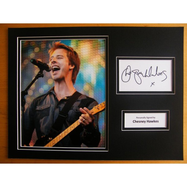CHESNEY HAWKES SIGNED AUTOGRAPH 16X12 PHOTO MOUNT ONE & ONLY 80's ROCK MUSIC COA PERFECT GIFT
