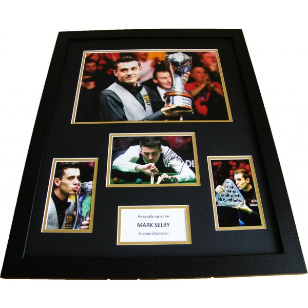 MARK SELBY HAND SIGNED & FRAMED PHOTO MOUNT HUGE DISPLAY SNOOKER CHAMPION & COA          PERFECT GIFT