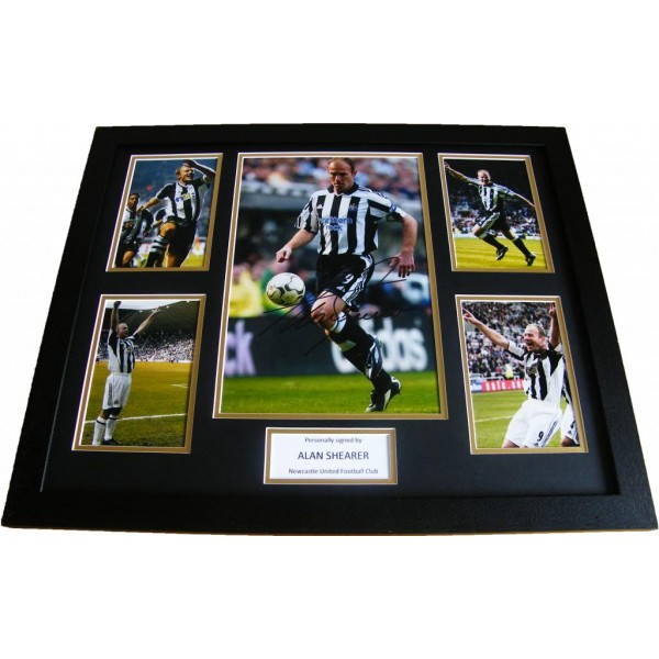 ALAN SHEARER HAND SIGNED & FRAMED HUGE PHOTO MOUNT DISPLAY NEWCASTLE UNITED COA