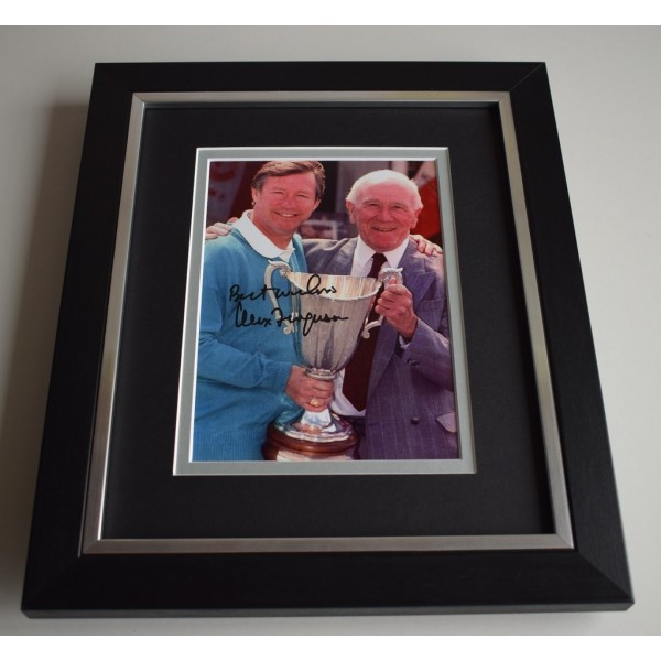 Alex Ferguson SIGNED 10X8 FRAMED Photo Autograph Display Manchester United   AFTAL & COA Memorabilia PERFECT GIFT