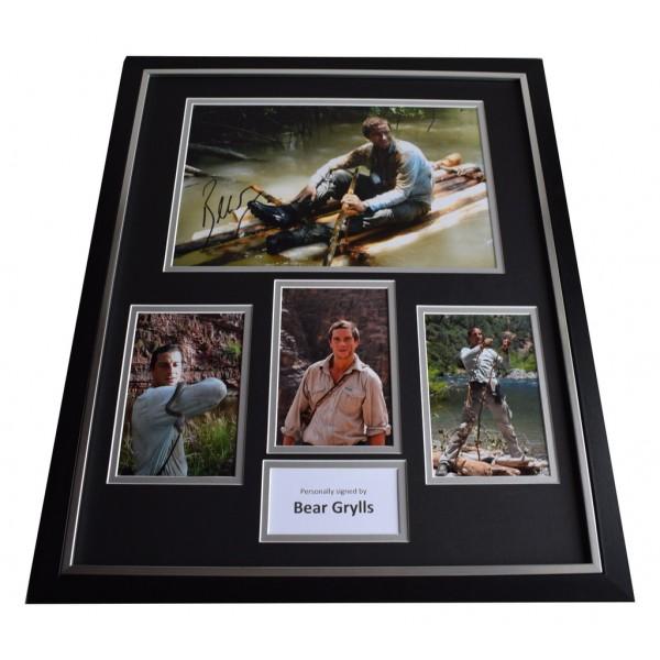 Bear Grylls SIGNED FRAMED Photo Autograph Huge display Man v Wild TV  AFTAL & COA Memorabilia PERFECT GIFT