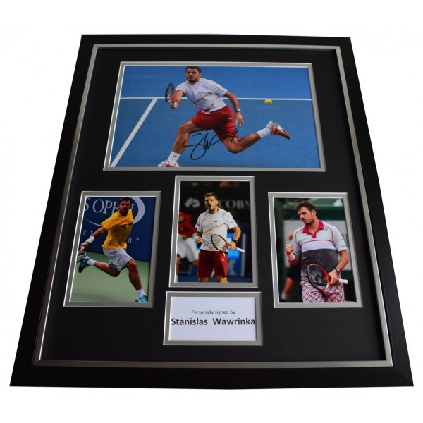 Stanislas Wawrinka SIGNED FRAMED Photo Autograph Huge display Tennis  AFTAL & COA Memorabilia PERFECT GIFT