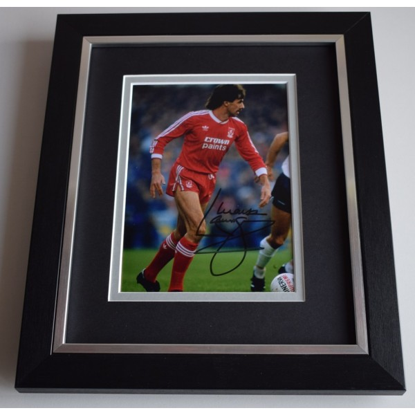Mark Lawrenson SIGNED 10X8 FRAMED Photo Autograph Display Liverpool Football  AFTAL & COA Memorabilia PERFECT GIFT