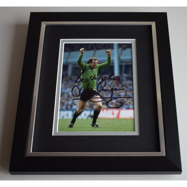 Joe Corrigan SIGNED 10X8 FRAMED Photo Autograph Display Manchester City AFTAL & COA Memorabilia PERFECT GIFT