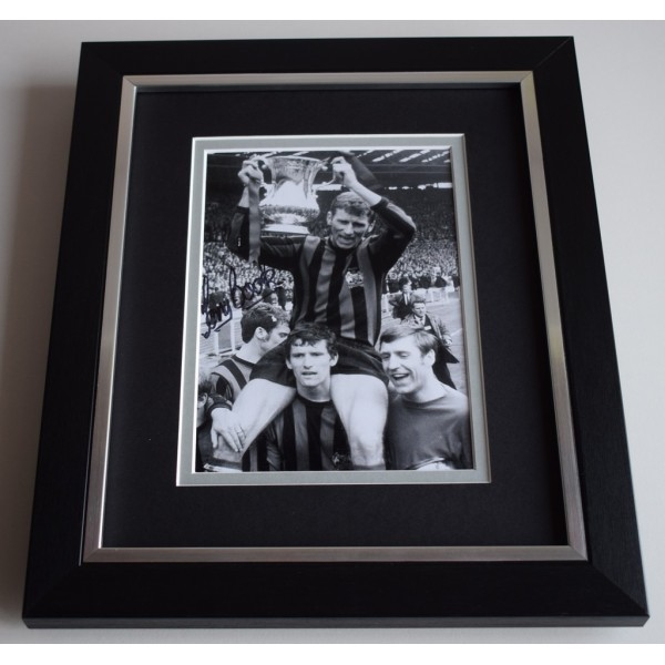 Tony Book SIGNED 10X8 FRAMED Photo Autograph Display Manchester City  AFTAL & COA Memorabilia PERFECT GIFT